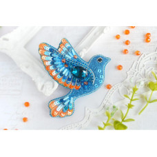 Б-025 Брошь Синяя птица счастья. Тэла Артис. Набор для вышивки бисером