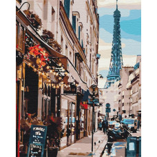 BS30083 Париж из-за угла. Brushme. Картина по номерам
