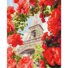BS32312 Париж в цветах. Brushme. Картина по номерам