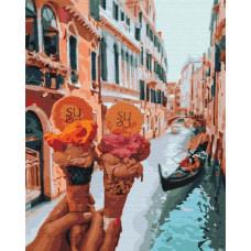 BS34170 Джелато в Венеции. Brushme. Картина по номерам