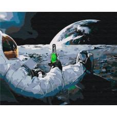 BS34312 Релакс в космосе. Brushme. Картина по номерам
