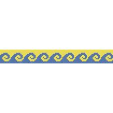 БВЗ-001 Браслет (2,5 см). ВДВ. Схема на ткани для вышивания бисером