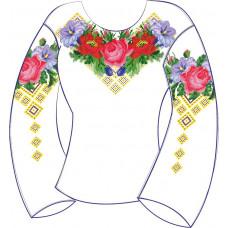 БЖ-002Да Сорочка для дівчинки, 6-12 років (атлас-коттон). Rainbow beads. Заготовка для вишивки нитками або бісером