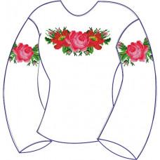 БЖ-003Мл Девочковая лляна сорочка 2-6 років. Rainbow beads. Заготовка для вишивки нитками або бісером