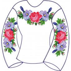 БЖ-004Д2а Сорочка для дівчинки, 6-12 років (атлас-коттон). Rainbow beads. Заготовка для вишивки нитками або бісером