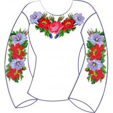 БЖ-004Дг Сорочка для дівчинки, 6-12 років (габардин). Rainbow beads. Заготовка для вишивки нитками або бісером