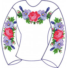 БЖ-004М2л Девочковая лляна сорочка 2-6 років. Rainbow beads. Заготовка для вишивки нитками або бісером