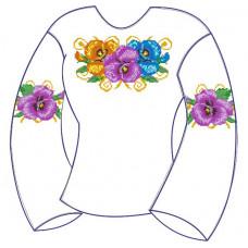 БЖ-005Мг Сорочка для дівчинки, 2-6 років (габардин). Rainbow beads. Заготовка для вишивки нитками або бісером