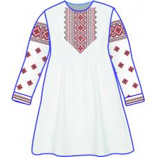 БЖ-031ДС2л Плаття для дівчинки, 6-12 років (льон). Rainbow Beads. Заготовка для вишивки нитками або бісером