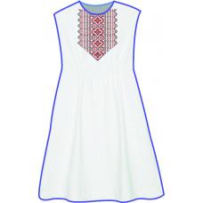 БЖ-031ДСг Плаття для дівчинки, 6-12 років (габардин). Rainbow Beads. Заготовка для вишивки нитками або бісером