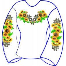 БЖ-035Да Сорочка для дівчинки, 6-12 років (атлас-коттон). Rainbow beads. Заготовка для вишивки нитками або бісером