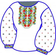 БЖ-039Да Сорочка для дівчинки, 6-12 років (атлас). Rainbow Beads. Заготовка для вишивки нитками або бісером