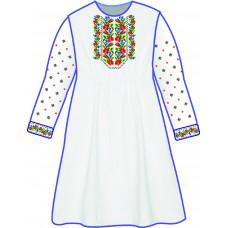 БЖ-039ДС2г Плаття для дівчинки, 6-12 років (габардин). Rainbow Beads. Заготовка для вишивки нитками або бісером