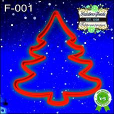F-001 Ялинка. Форма для печива. Rainbow beads