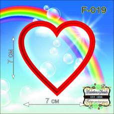 F-019 Валентинка. Форма для печива. Rainbow beads
