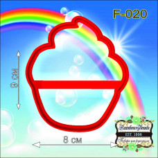 F-020 Кексик. Форма для печива. Rainbow beads