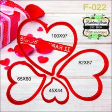 F-022 Набір Валентинок. Форма для печива. Rainbow beads