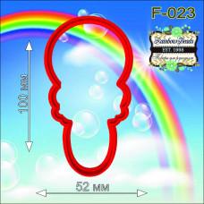 F-023 Брязкальце. Форма для печива. Rainbow beads