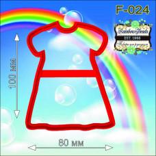 F-024 Сукню. Форма для печива. Rainbow beads