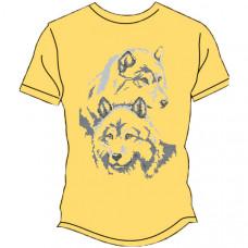 ФЧ-006 54 розмір Футболка під вишивку чоловіча. Княгиня Ольга (колір-жовтий). Заготовка для вишивки бісером(Знятий з виробництва)