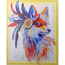 HZ030 Різнобарвна лисиця. DA. Набір алмазної мозаїки (стрази)