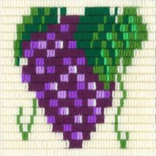 I-001 Виноград. Stitch me. Набор для вышивания вертикальным стежком