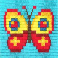 I-008 Бабочка. Stitch me. Набор для вышивания вертикальным стежком