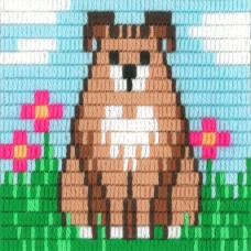 I-011 Собака. Stitch me. Набор для вышивания вертикальным стежком
