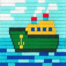 I-012 Корабль. Stitch me. Набор для вышивания вертикальным стежком