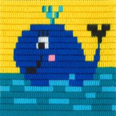 I-017 Кит. Stitch me. Набор для вышивания вертикальным стежком