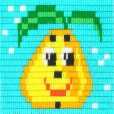 I-018 Веселая груша. Stitch me. Набор для вышивания вертикальным стежком