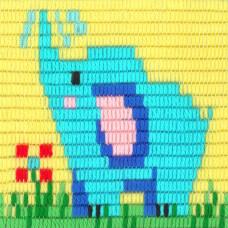 I-019 Слоненок. Stitch me. Набор для вышивания вертикальным стежком
