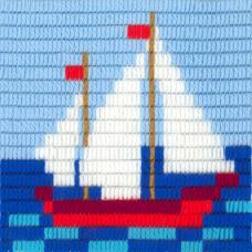 I-020 Парусник. Stitch me. Набор для вышивания вертикальным стежком