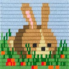 I-021 Заяц. Stitch me. Набор для вышивания вертикальным стежком