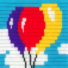 I-024 Воздушные шарики. Stitch me. Набор для вышивания вертикальным стежком