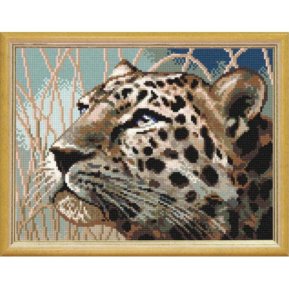 J17 Леопард. Чарівниця. Канва з нанесеним малюнком(Знятий з виробництва)