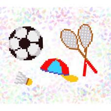 K102 Спорт (10х15 см). Confetti. Водорастворимый флизелин с рисунком