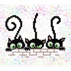K113 Котята (10х15 см). Confetti. Водорастворимый флизелин с рисунком
