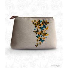 КВ 3708 Косметичка Метелики. Повна Скриня. Набір для вишивки бісером