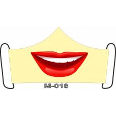 М-018M Баф-маска (розмір M). Rainbow beads