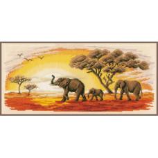 PN-0002317 Слони. Vervaco. Набір для вишивки хрестом