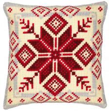 PN-0008494 Норвезька сніжинка. Подушка. Vervaco. Набір для вишивки хрестом