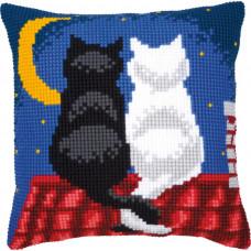 PN-0008598 Кішки в ночі. Подушка. Vervaco. Набір для вишивки хрестом