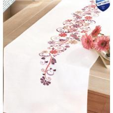 PN-0012996 Рожево-фіолетова фантазія. Доріжка на стіл. Набір для вишивки нитками. Vervaco