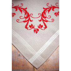 PN-0013113 Red decoration (Червоне прикраса). Серветка. Vervaco. Набір для вишивання нитками