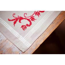 PN-0013128 Red decoration (Червоне прикраса). Серветка. Vervaco. Набір для вишивання нитками