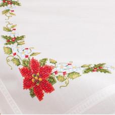 PN-0013213 Скатертину Різдвяні троянди. Vervaco. Набір для вишивки хрестом