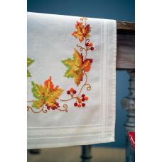 PN-0013311 Осіннє листя. Серветка. Vervaco. Набір для вишивання нитками