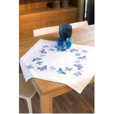 PN-0145088 Блакитні метелики. Скатертина. Vervaco. Набір для вишивки хрестом