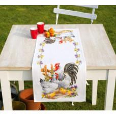 PN-0145793 Куряче сімейство. Доріжка на стіл. Набір для вишивки нитками. Vervaco